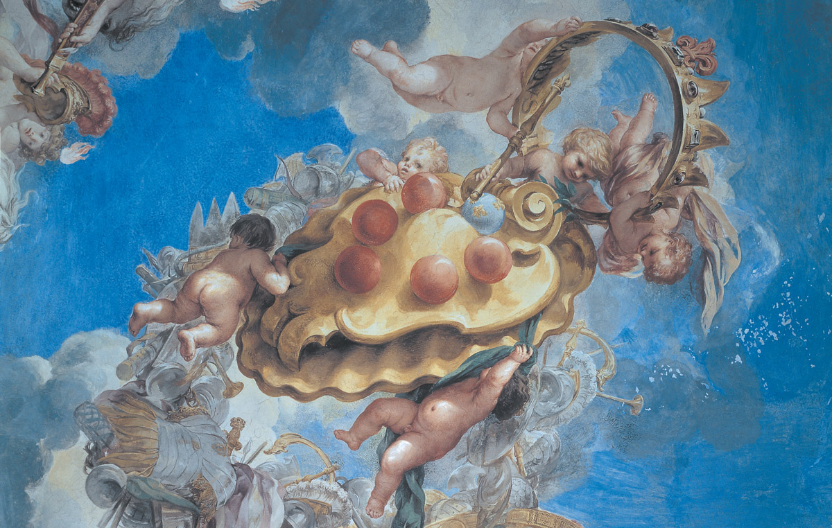 Pietro da Cortona - affreschi della volta della Sala di Marte, particolare