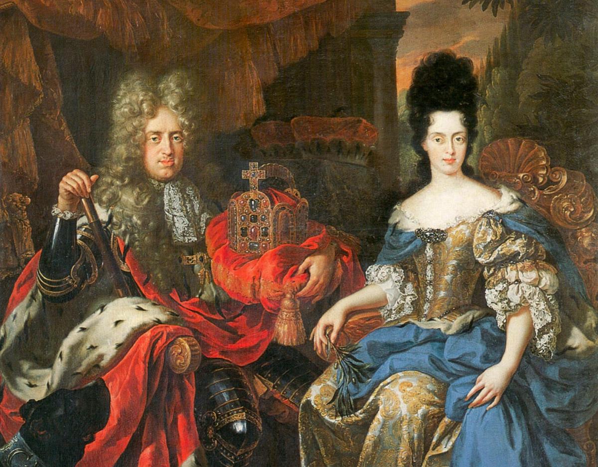 Jan Frans van Douven, ritratto di Anna Maria Luisa e Giovanni Guglielmo, 1708