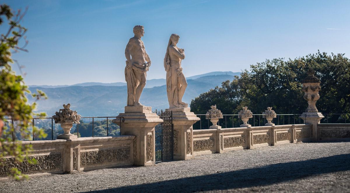 Ercole e Venere sul Belvedere di Villa Bardini, Firenze