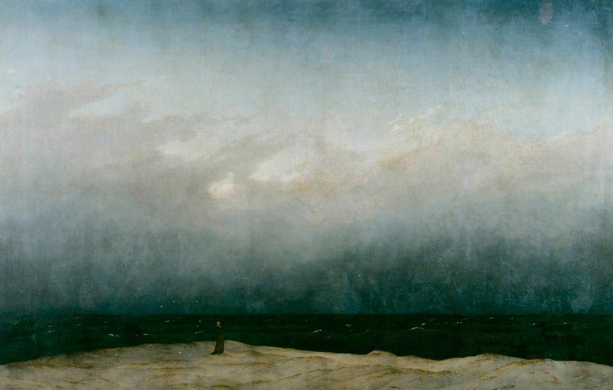 Caspar Friedrich, Monaco in riva al mare, 1810