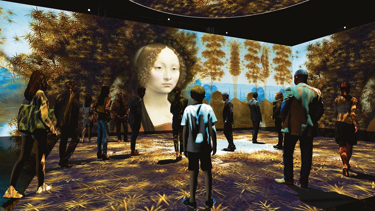 Sala immersiva della mostra Leonardo da Vinci 3D