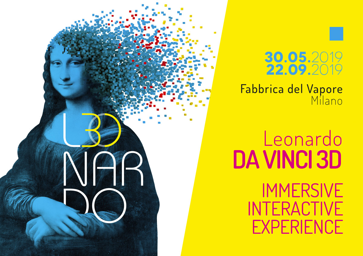 Immagine istituzionale della mostra Leonardo da Vinci 3D