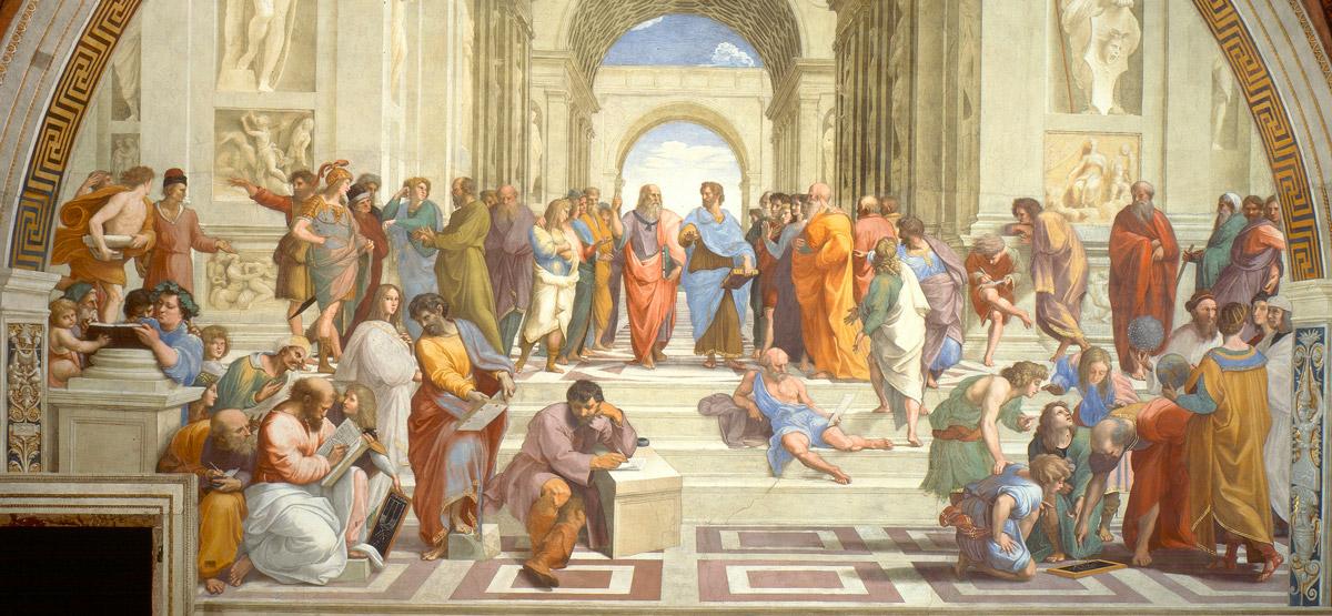 Raffaello Sanzio, Scuola di Atene, 1509-1511