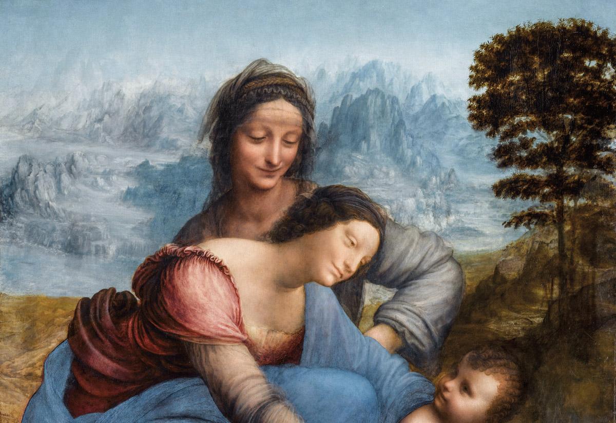 Leonardo, Sant'Anna, la Madonna e il Bambino con l'agnello, 1503 circa, Parigi, Musée du Louvre
