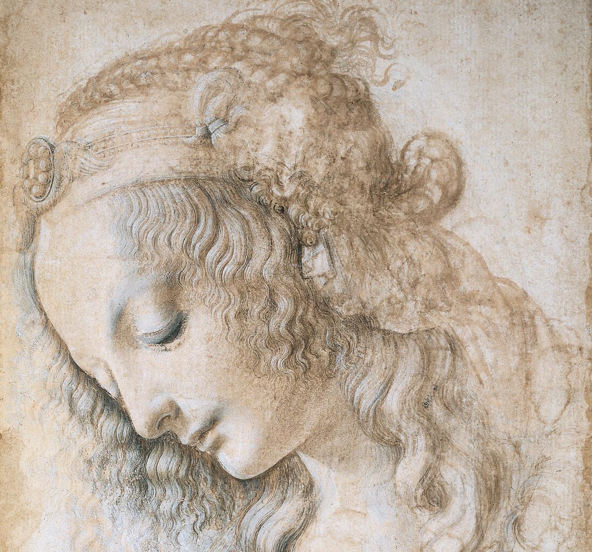 Leonardo, Testa di donna, 1475-1478 circa, Firenze, Gabinetto Disegni e Stampe degli Uffizi