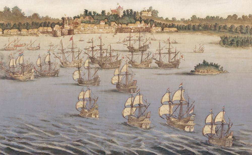 Johannes Vingboons e bottega, Malacca così come si vede dal punto di ormeggio